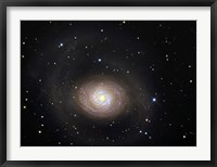 Framed Messier 94, A Spiral Galaxy in the Constellation Canes Venatici