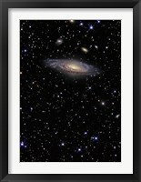 Framed NGC 7331, A Spiral Galaxy in the Constellation Pegasus