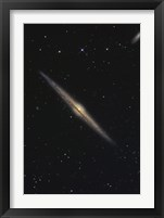 Framed NGC 4565, Barred Spiral Galaxy in the Constellation Coma Berenices