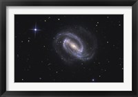 Framed NGC 1300, Barred Spiral Galaxy in the Constellation Eridanus