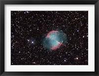 Framed Dumbbell Nebula