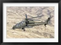 Framed Italian Army AW-129 Mangusta over Afghanistan