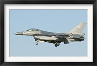 Framed Dutch F-16 aircraft