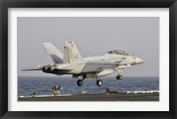 Framed F/A-18F Super Hornet Launches from the USS George HW Bush