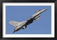 Framed F-16 of the Pakistan Air Force