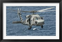 Framed US Navy SH-60F Seahawk