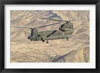 Framed Italian Army CH-47C Chinook Helicopter Over Afghanistan