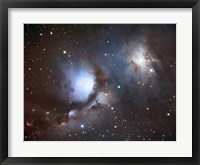 Framed Messier 78, A Reflection Nebula in the Constellation Orion