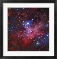 Framed Messier 16, The Eagle Nebula in Serpens