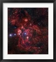 Framed Lobster Nebula in Scorpius