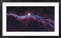 Framed Veil Supernova Remnant