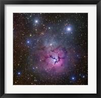 Framed Trifid Nebula located in Sagittarius