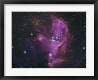 Framed Open Cluster and Nebula Complex in the Small Magellanic Cloud