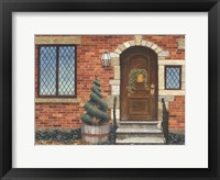 Framed Front Door with Basket