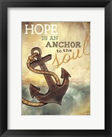 Framed Anchor to the Soul