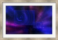 Framed Space Travel Scene