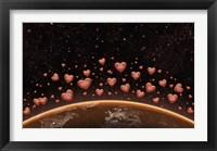 Framed Hearts Over Earth's Horizon
