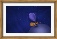 Framed Guitar Playing Martian