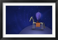 Framed Guitar Playing Martian on a Horse