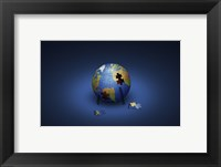 Framed Puzzle Earth