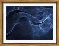 Framed Abstract Blue One