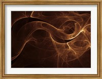 Framed Abstract Gold One