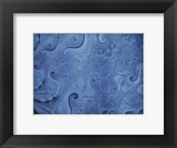 Framed Abstract Illustration in Blue