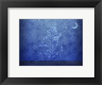 Framed Tree and First Snowfall in Blue