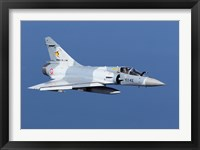 Framed Mirage 2000C of the French Air Force (blue & white)