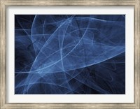 Framed Abstract Blue Two