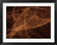 Framed Abstract Gold Two