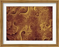 Framed Abstract Illustration in Gold