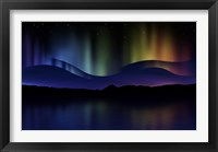Framed Northern Lights Abstract