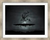 Framed Flying Tree ( digitally generated - black)