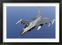 Framed Dutch F-16AM Over the Mediterranean Sea (top view)
