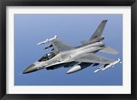 Framed Dutch F-16AM Over the Mediterranean Sea (close up)