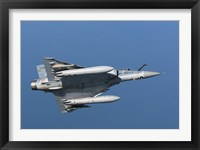 Framed Mirage 2000C of the French Air Force (bottom view)