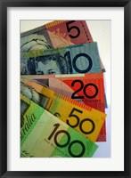 Framed Australian Money