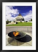 Framed Eternal Flame, Shrine of Rememberance, Melbourne, Victoria, Australia