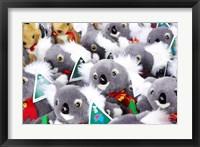 Framed Fluffy Koalas and Kangaroos, Queen Victoria Market, Melbourne, Victoria, Australia