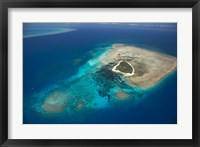 Framed Green Island, Great Barrier Reef, Queensland, Australia