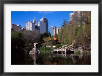 Framed Chinese Garden, Darling Harbor, Sydney, Australia