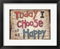 Framed Choose to be Happy