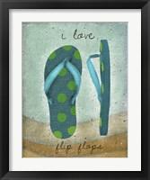 Framed I Love Flip-flops