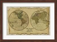 Framed Antique Map I