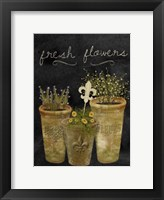Framed Fresh Flowers I