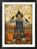 Framed Happy Fall Y'all