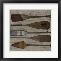 Framed Lake Oars III