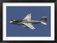 Framed EA-6B Prowler in Flight Over the Arabian Sea