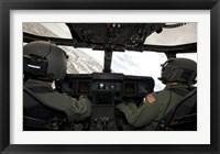 Framed Cockpit View of a CV-22 Osprey